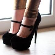 Sapatos Salto Alto Preto